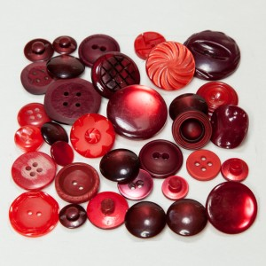 Vintage Acrylic Buttons - Red