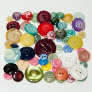 Vintage Acrylic Buttons - Browns and Tans