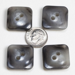 Vintage Acrylic Buttons- Gray Agate