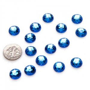 Royal Blue Acrylic Crystals, 11mm, 10 pcs