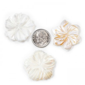 Large Carved Mother of Pearl Flowers