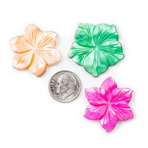 Assorted Colors Mother of Pearl Flowers