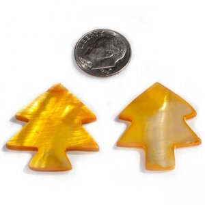 Yellow Orange Christmas Trees