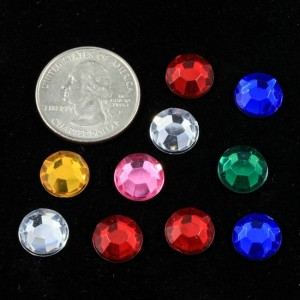 Acrylic Crystals, 11mm, 10 pcs
