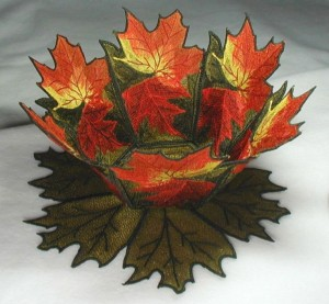 BFC0198 Lace Bowl-Autumn Leaves
