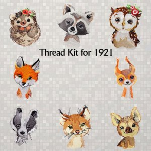 BFC1921 Baby Animals of the Woodlands Thread Kit