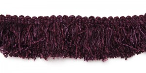 Brush Fringe - Very Dark Brownish Purple