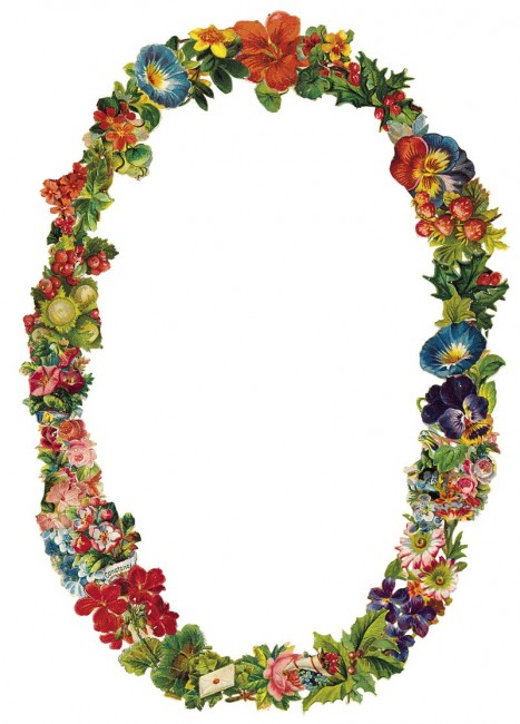 BFC0134 Victorian Floral Wreath