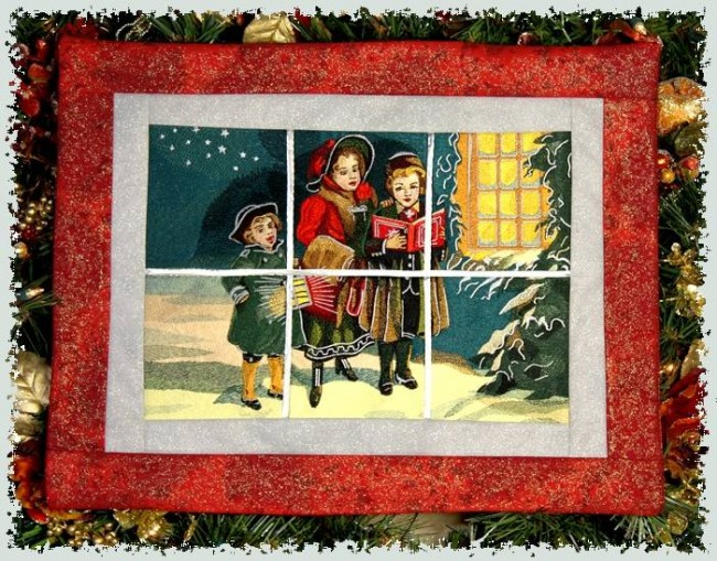 BFC1008 Window-Christmas Carolers