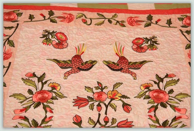 BFC1027 Persian Flowers and Birds Quilt Set