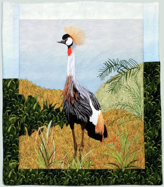 BFC1029 Large Gray Crowned Gray Crane