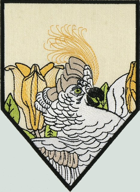 BFC1043 QIH or Reg Stained Glass Cockatoos