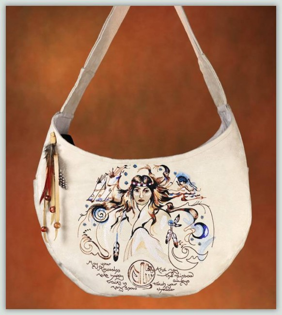 BFC1047 Convertible Handbag Series B Indian Girl