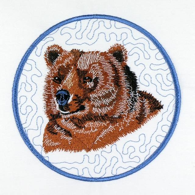 BFC1062 QIH/ Reg Stippled Forest Animals Quilt Set