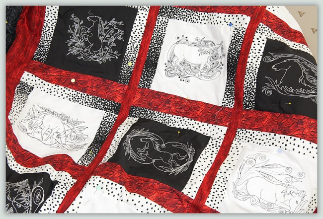 BFC1125 Decorative Element Series Blackwork Horses