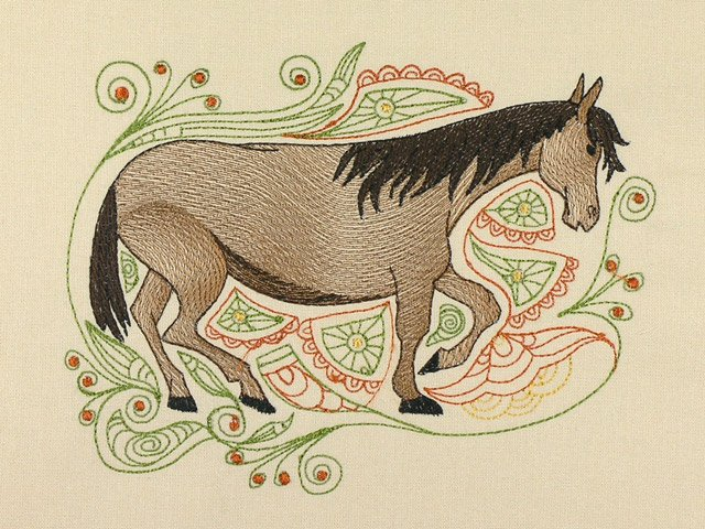 BFC1126 Decorative Element Series Filled in Horses