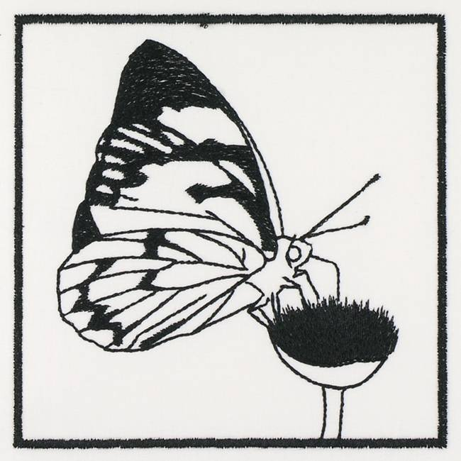 BFC1155 QIH Blackwork Birds and Butterflies Quilt Blocks