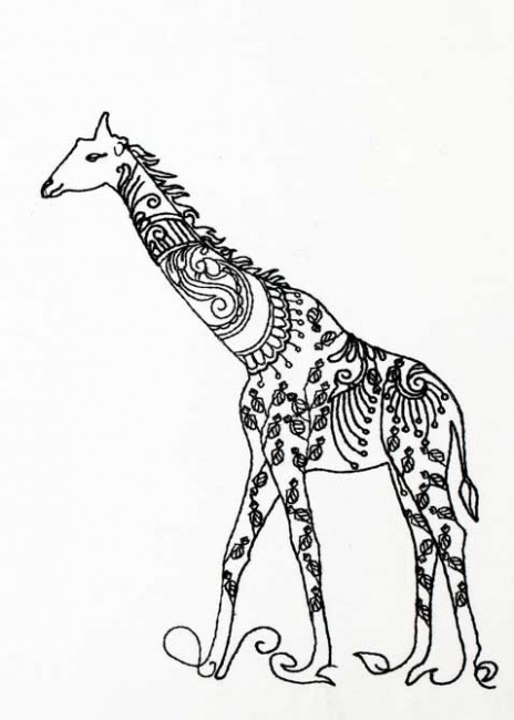 BFC1185 Decorative Element Series-Blkwork Giraffes