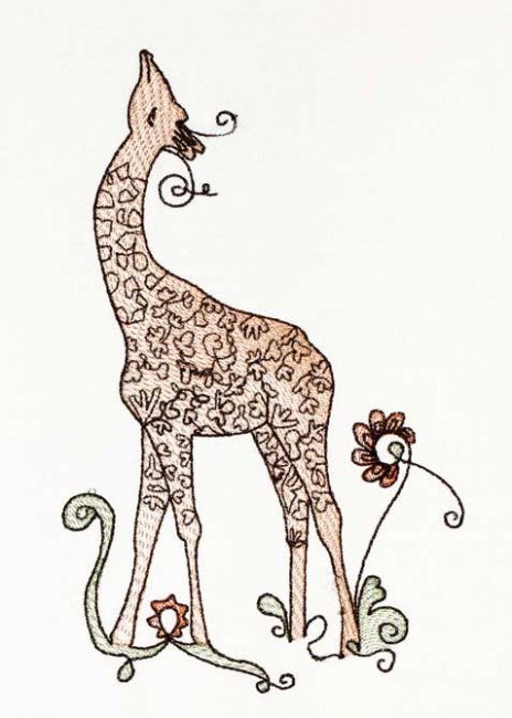 BFC1186 Decorative Element Series-Filled Giraffes