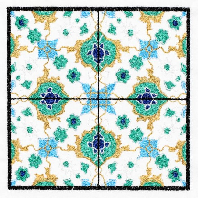 BFC1214 QIH-Turkish Tile Squares