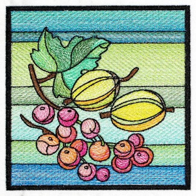BFC1227 QIH Stained Glass Fruit Blocks