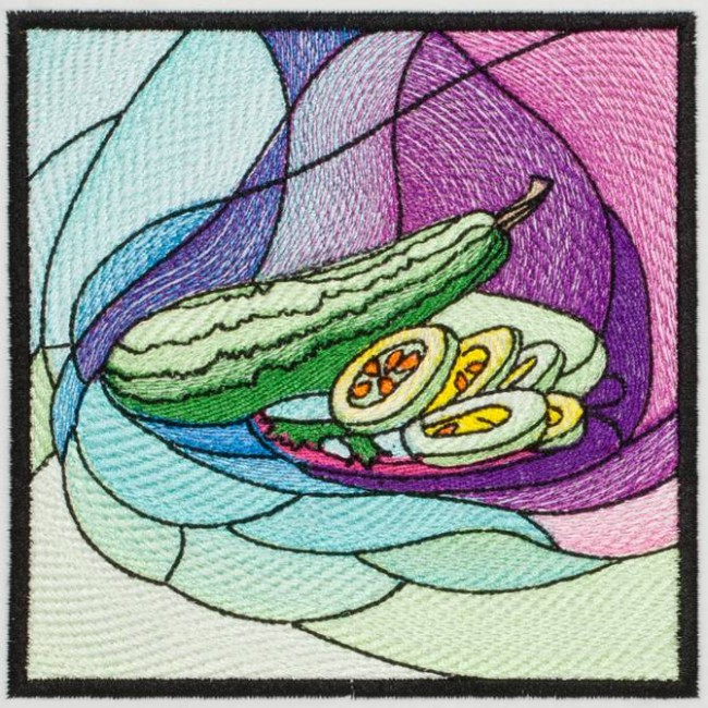 BFC1231 QIH Stained Glass Veggie Blocks