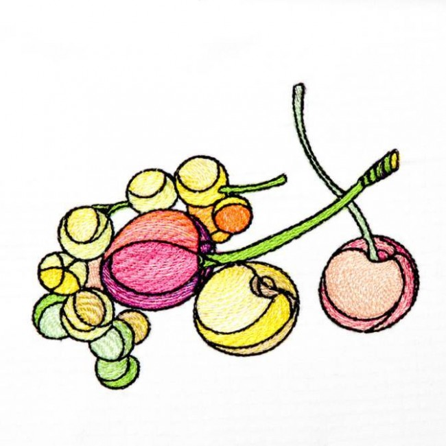 BFC1236 Stained Glass Fruit and Veggies