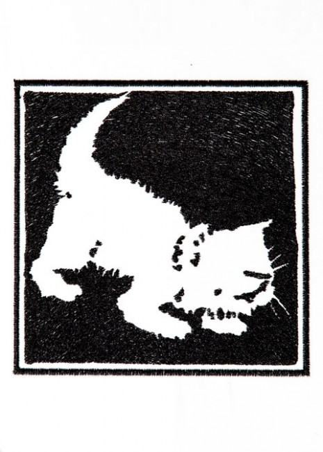 BFC1249 Blackwork Cats and Kittens
