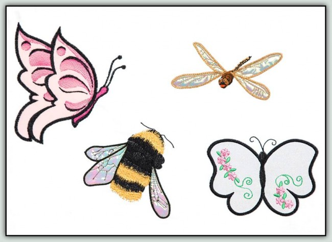 BFC1254 Applique Elements Butterflies and Friends