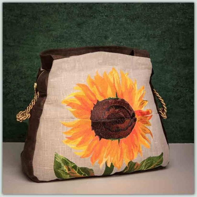 BFC1282 Sunflowers Handbag