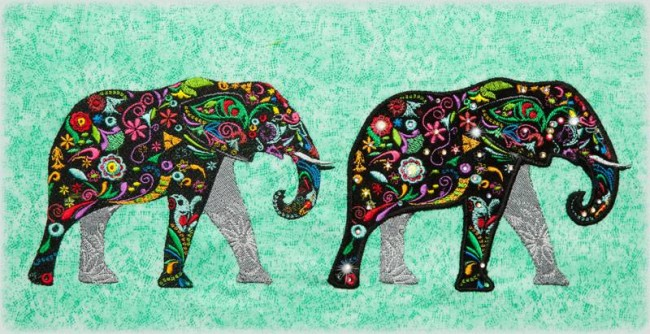 BFC1310 - Embellished Elephants & Friends - 02