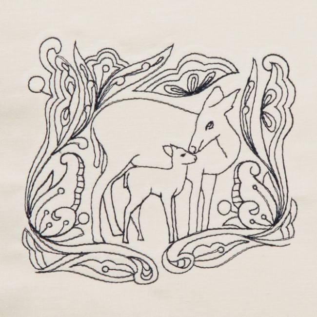 BFC1321 DES-Blackwork Deer