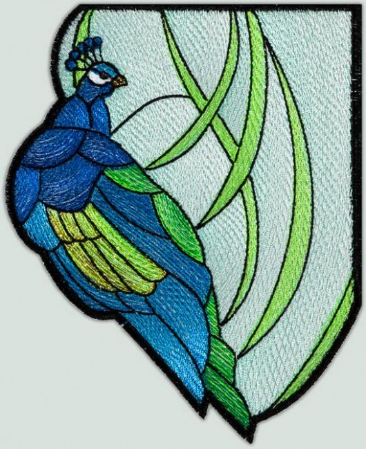 BFC1346 Stained Glass Peacock Two Ways