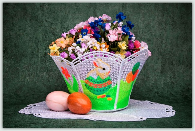 BFC1349 FSL Easter Bowl and Doily