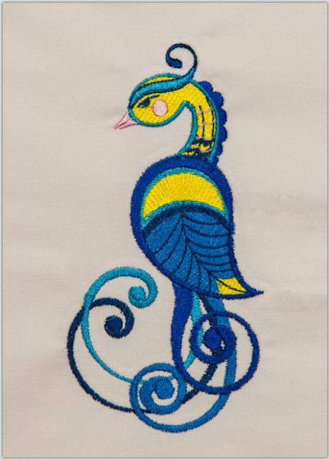 BFC1373 Fanciful Scrolly Birds