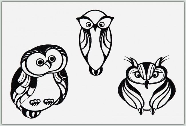 BFC1376 Owls to Glitter or Not