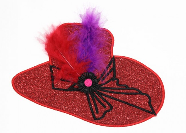 BFC1377 Glittery Red Hats