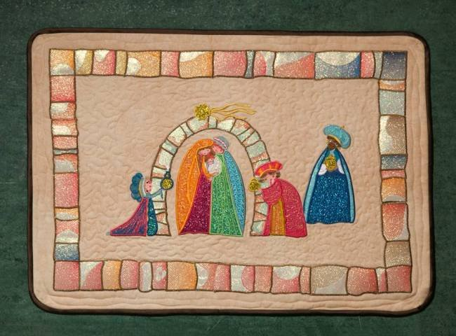 BFC1394 Folk Art Nativity Applique Thread Kit