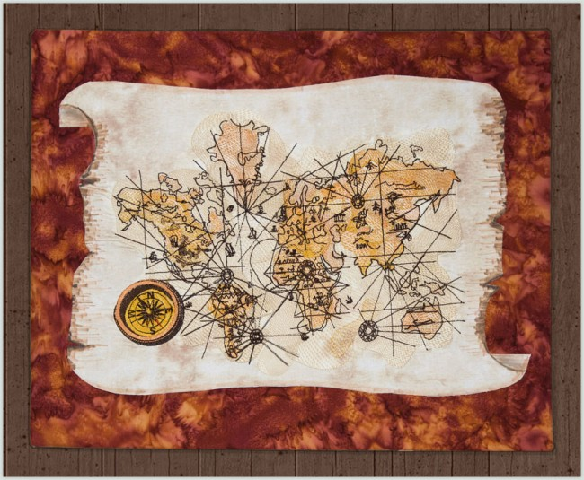 BFC1413 The Passage of Time - Vintage World Map