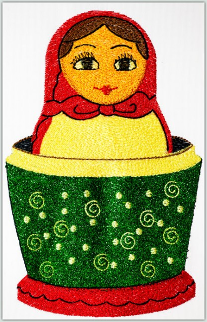 BFC1423 Matryoshka Dolls with Glitter