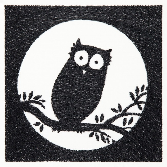 BFC1447 Blackwork Owls
