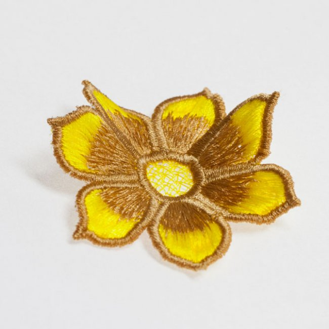 BFC1450 FSL Yellow and Brown Petals