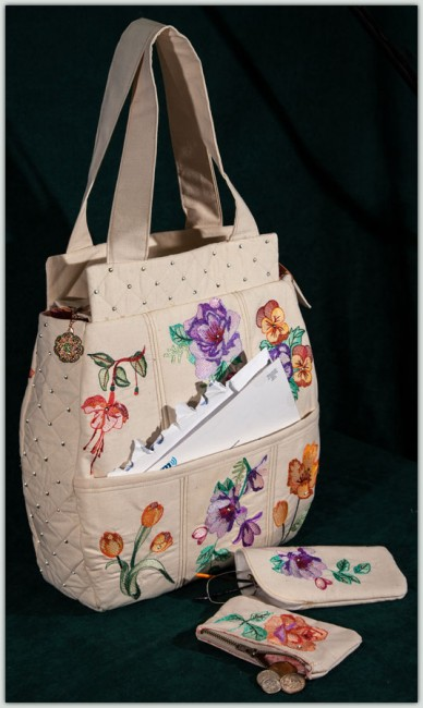 BFC1474 Watercolor Handbag Set