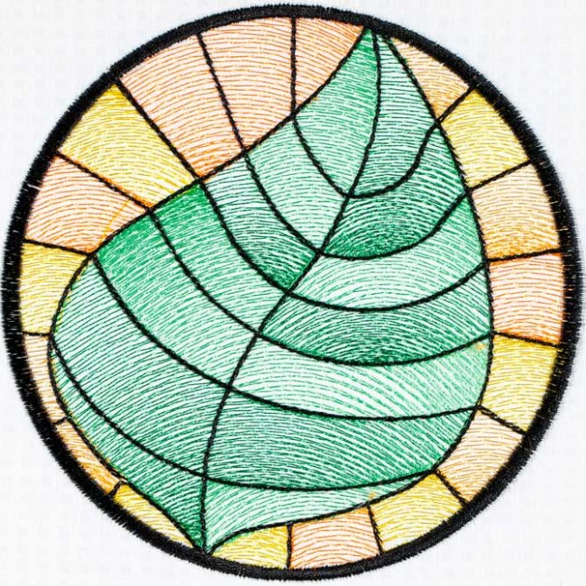 BFC1498 Stained Glass Circles-Summer's End