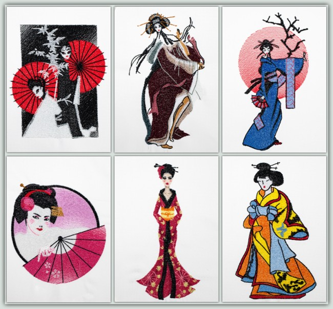 BFC1499 BFC1499 Geishas in a Contemporary Style Thread Kit