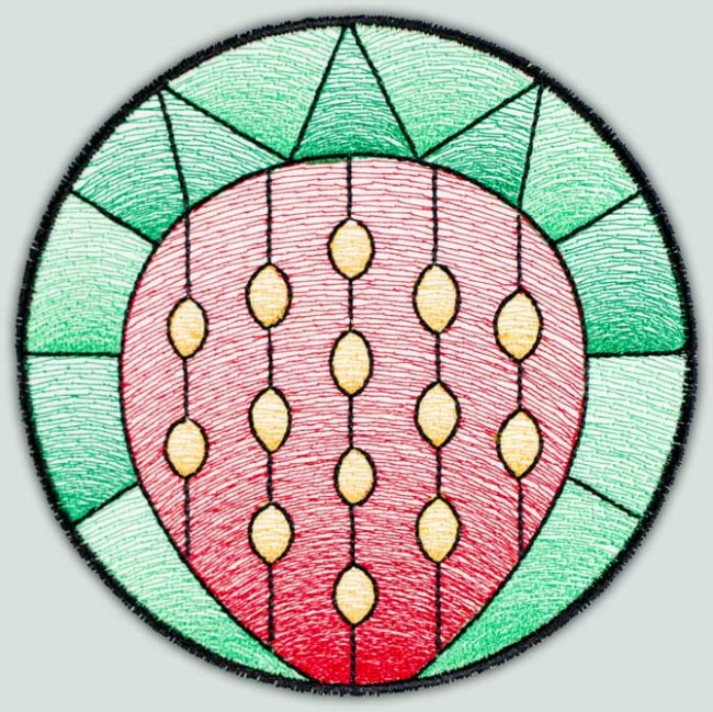 BFC1514 Stained Glass Circles-Fruit