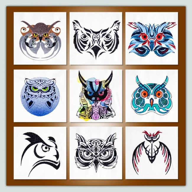 BFC1515 Tribal Owl Potraits