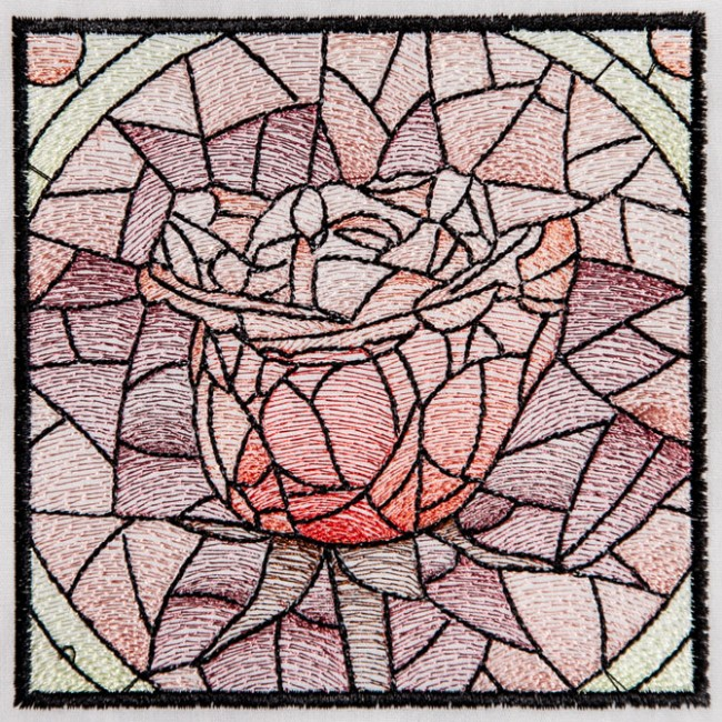 BFC1537 Stained Glass Squares-Roses