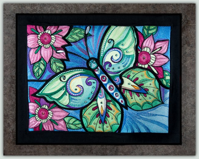 BFC1551 Ching Chou's Stained Glass Butterfly III