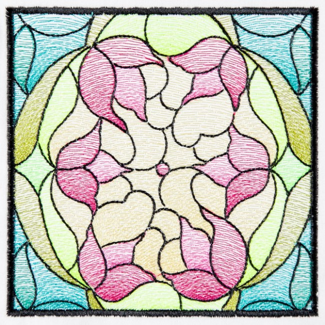 BFC1572 Stained Glass Quilt Squares-Spring